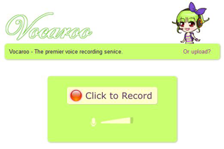 Vocaroo - Audioaufnahmen